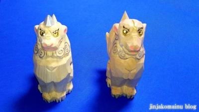 一刀彫狛犬2
