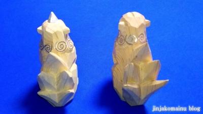 一刀彫狛犬4
