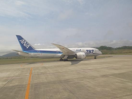 石垣空港 ボーイング787