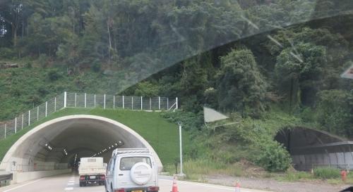 静清バイパス 新しいトンネル