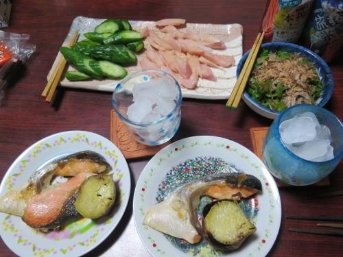 9月24日芋名月の食卓
