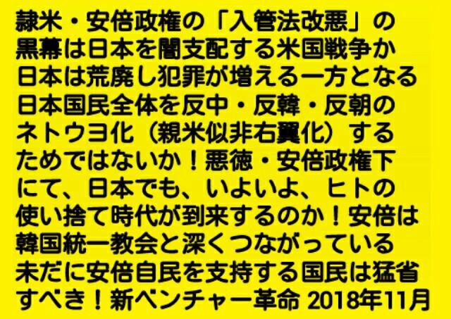 隷米・安倍政権の「入管法改悪」の黒幕は日本を闇支配する米国戦争勢か!日本は荒廃し犯罪が増える一方とな