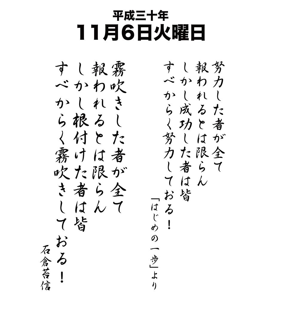 平成30年11月6日