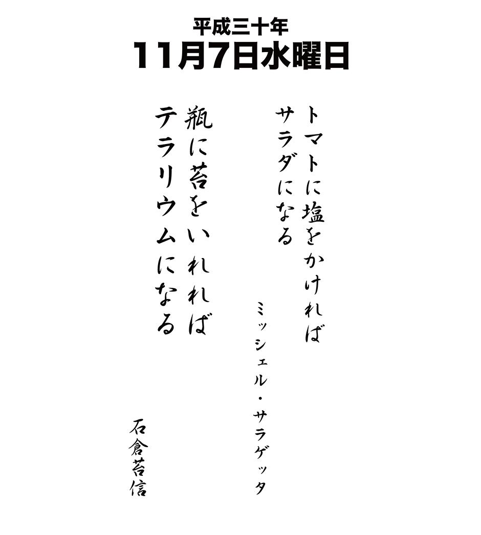 平成30年11月7日