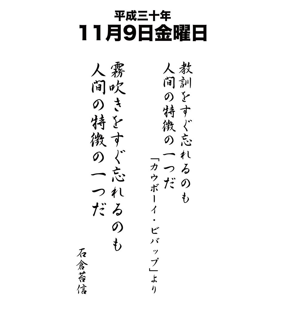 平成30年11月9日
