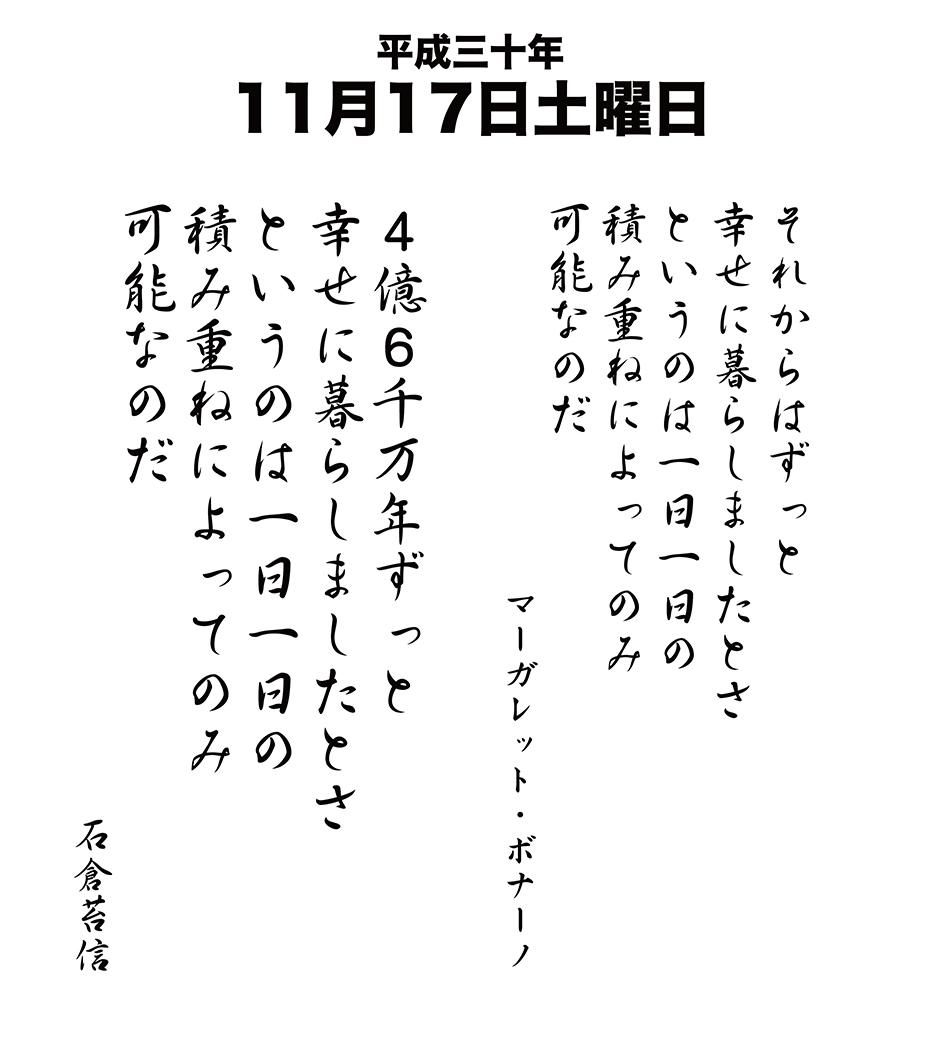 平成30年11月17日