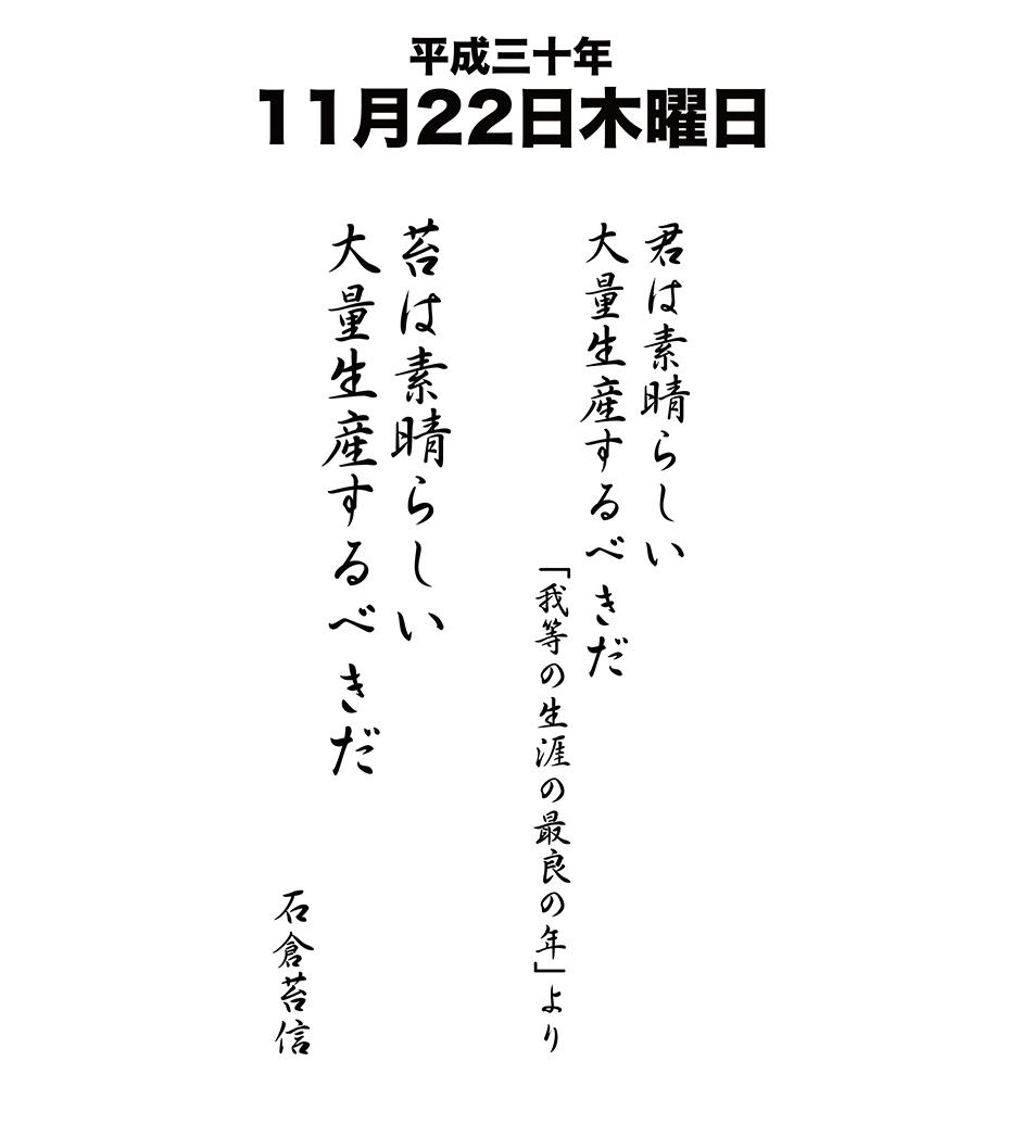 平成30年11月22日