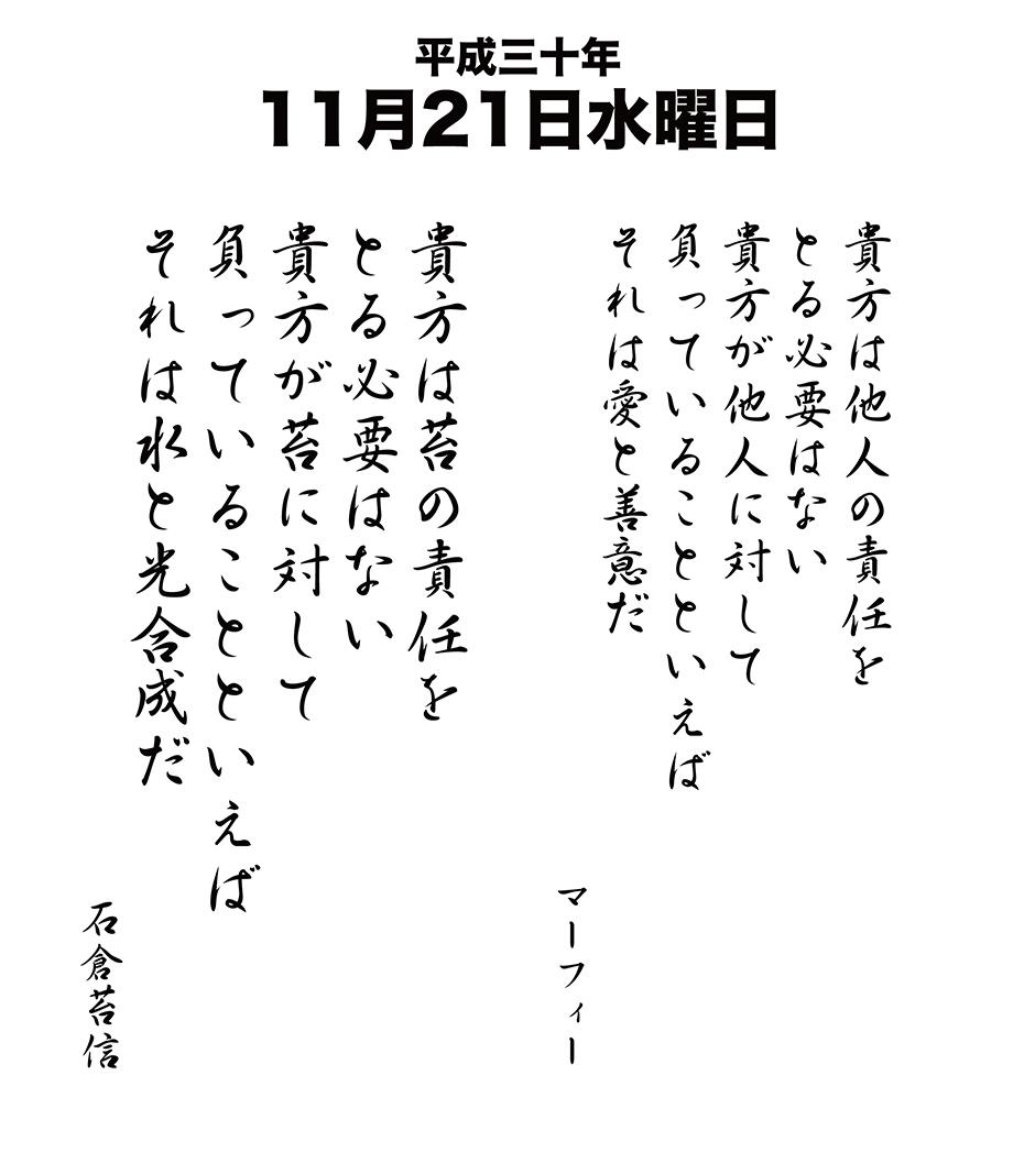 平成30年11月21日