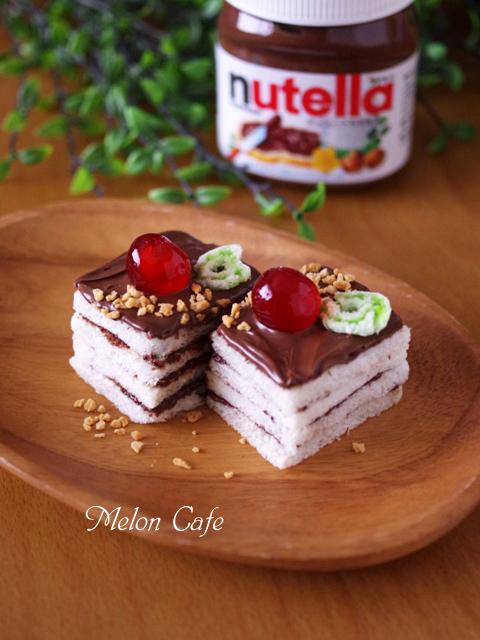 ヌテラで超簡単ケーキのようなサンドイッチ00