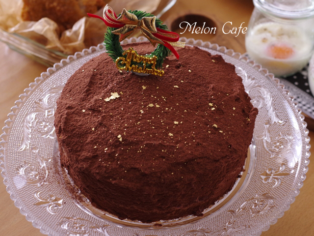 チョコレートのクリスマスケーキ