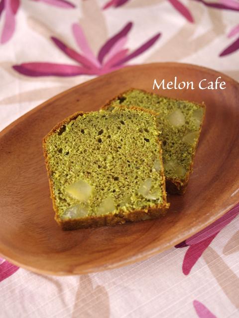 ホットケーキミックスで本格抹茶と栗のパウンドケーキ02
