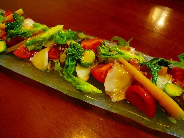 蛸と 地元野菜のサラダ風