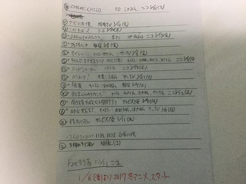 20161229アニメセレクト