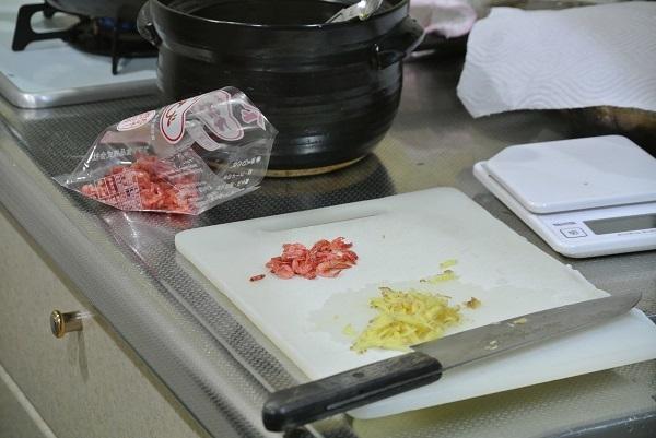 桜エビとしょうがの炊込みご飯1