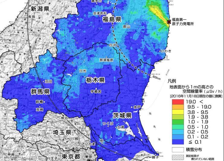 【原子力】福島第1原発80キロ圏、放射線量が「71%」減少