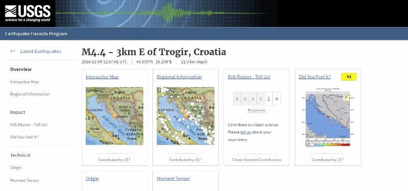 【ヨーロッパ】クロアチアで「M4.4」の地震発生…市長「歴史の中で大きな地震に見舞われたことはない」市民はパニックに