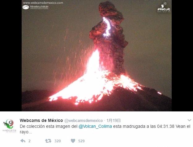 世界で最も危険な火山の一つ「メキシコ・コリマ火山」が噴火…18日以降、噴火が頻繁に続く