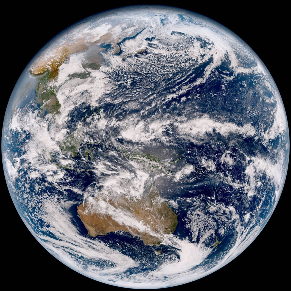 【マザー・アース】気象衛星ひまわり9号が24日撮影した最近の「地球の姿」を公開