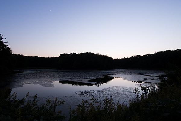 塚ノ杁池夕景