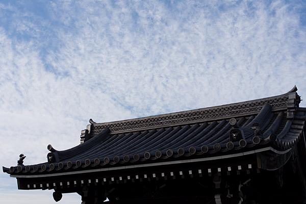長慶寺山門屋根