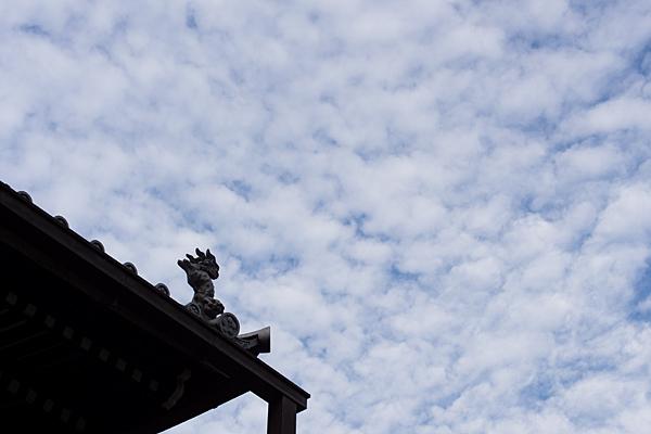 大永寺本堂屋根とうろこ雲