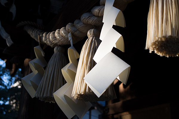 八剱社注連縄と紙垂