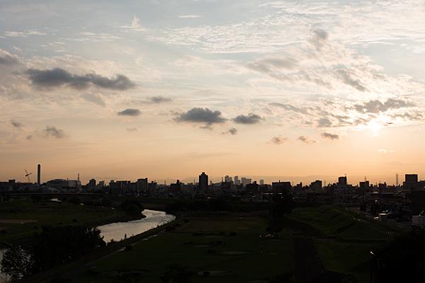 矢田川の夕焼け