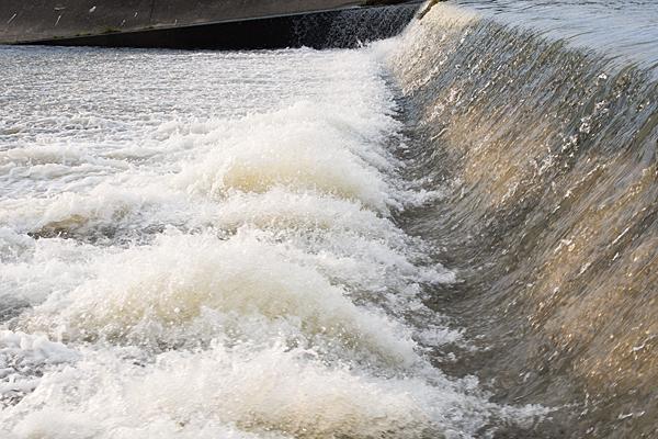矢田川川の流れ