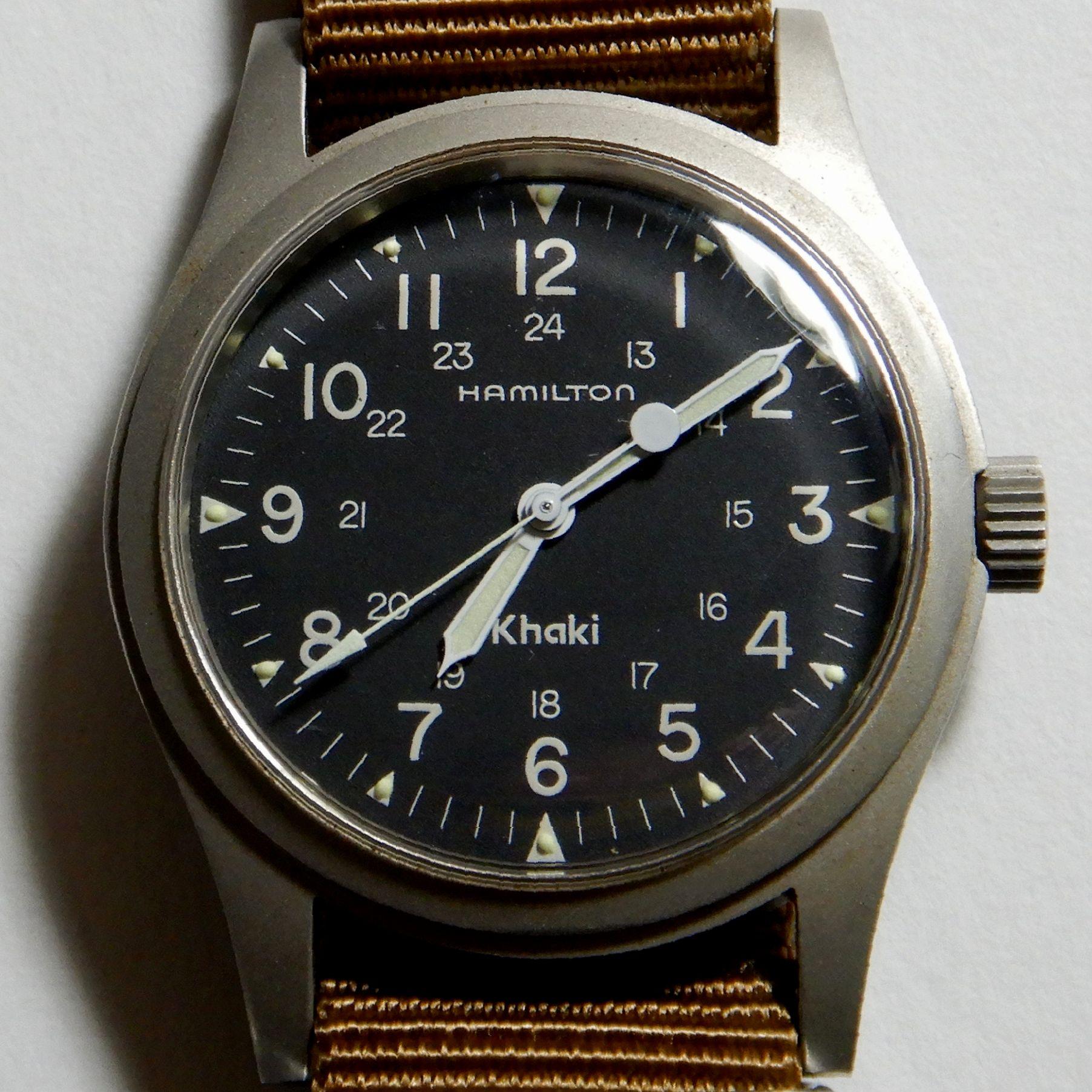 72d0c17f1a 泥沼時計収集メモ 本家の風格 ハミルトン カーキ 9415