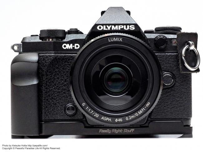 LUMIX G 20mm / F1.7 II ASPH.をOLYMPUS OM-D E-M5 MarkⅡに装着