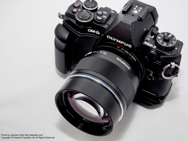 OM-D E-M5 MarkIIとM.ZUIKO DIGITAL ED 75mm F1.8