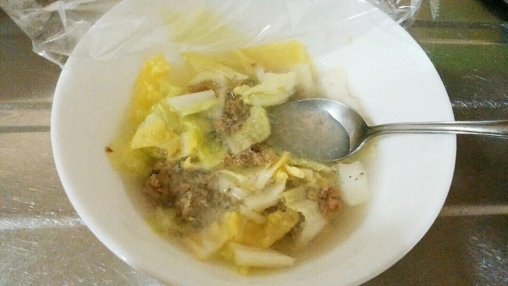 白菜と青魚の汁かけごはんの作り方3