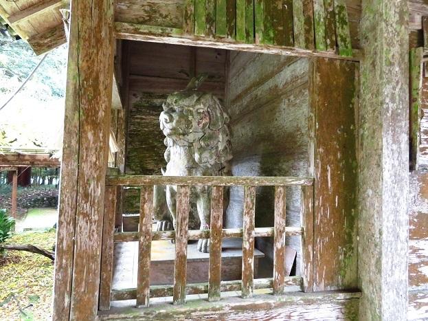 粟鹿神社隋神門狛犬像
