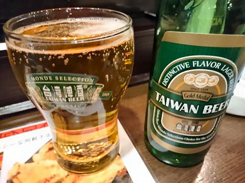 台湾ビールプレミアム@同客餃子館