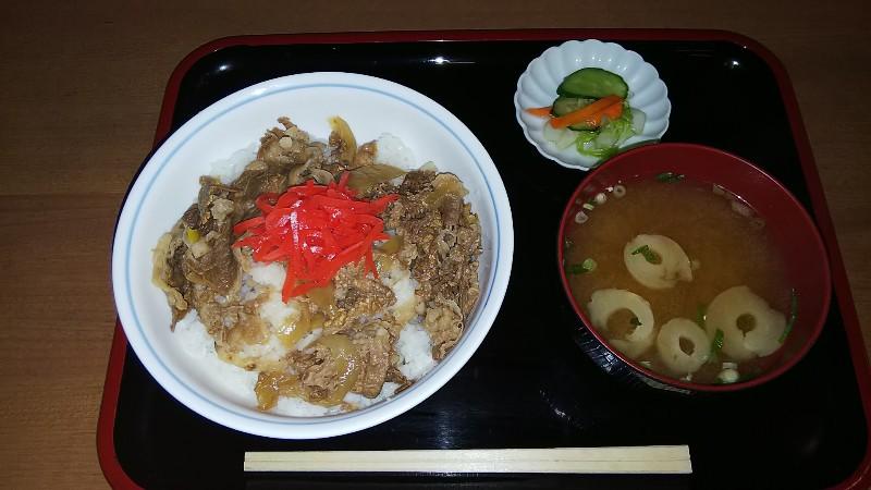 道志の湯牛丼2018