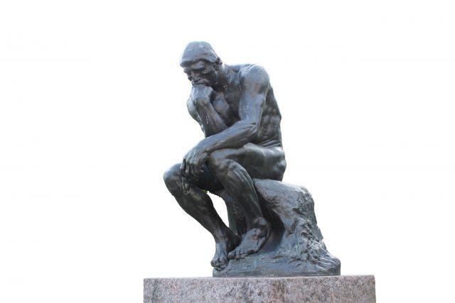 ロダン作の世界的名作「考える人」は、実は何も考えていない?