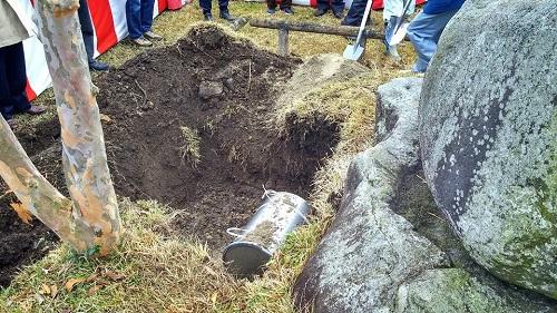 河内地区まちづくり協議会<タイムカプセル開封および更新埋設式>!⑥