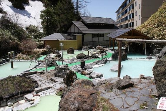 万座高原ホテル石庭露天風呂