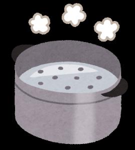 蒸し器、料理
