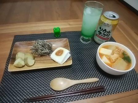 キムチ鍋晩酌