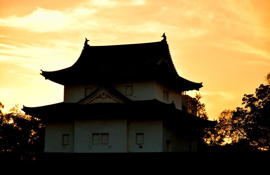 大阪城からの夕景・助手1