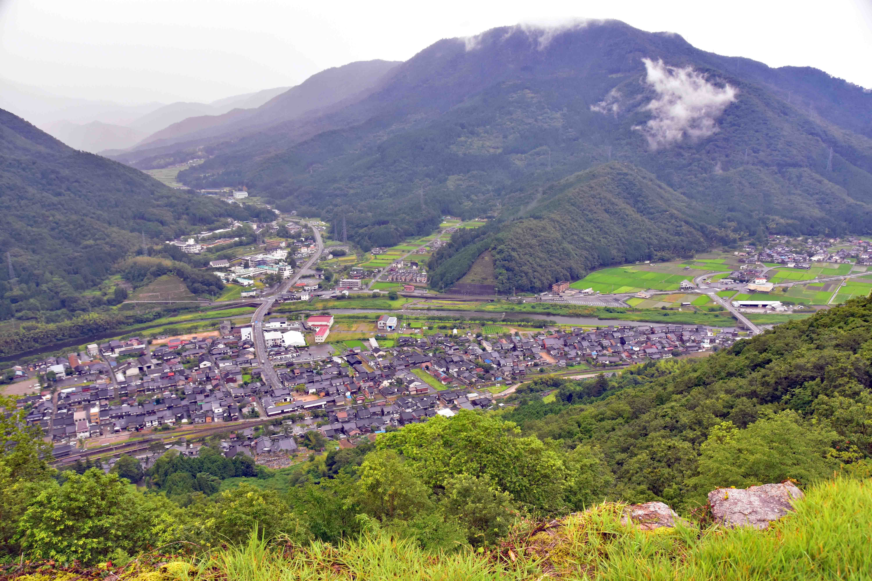 竹田の町を、見下ろす