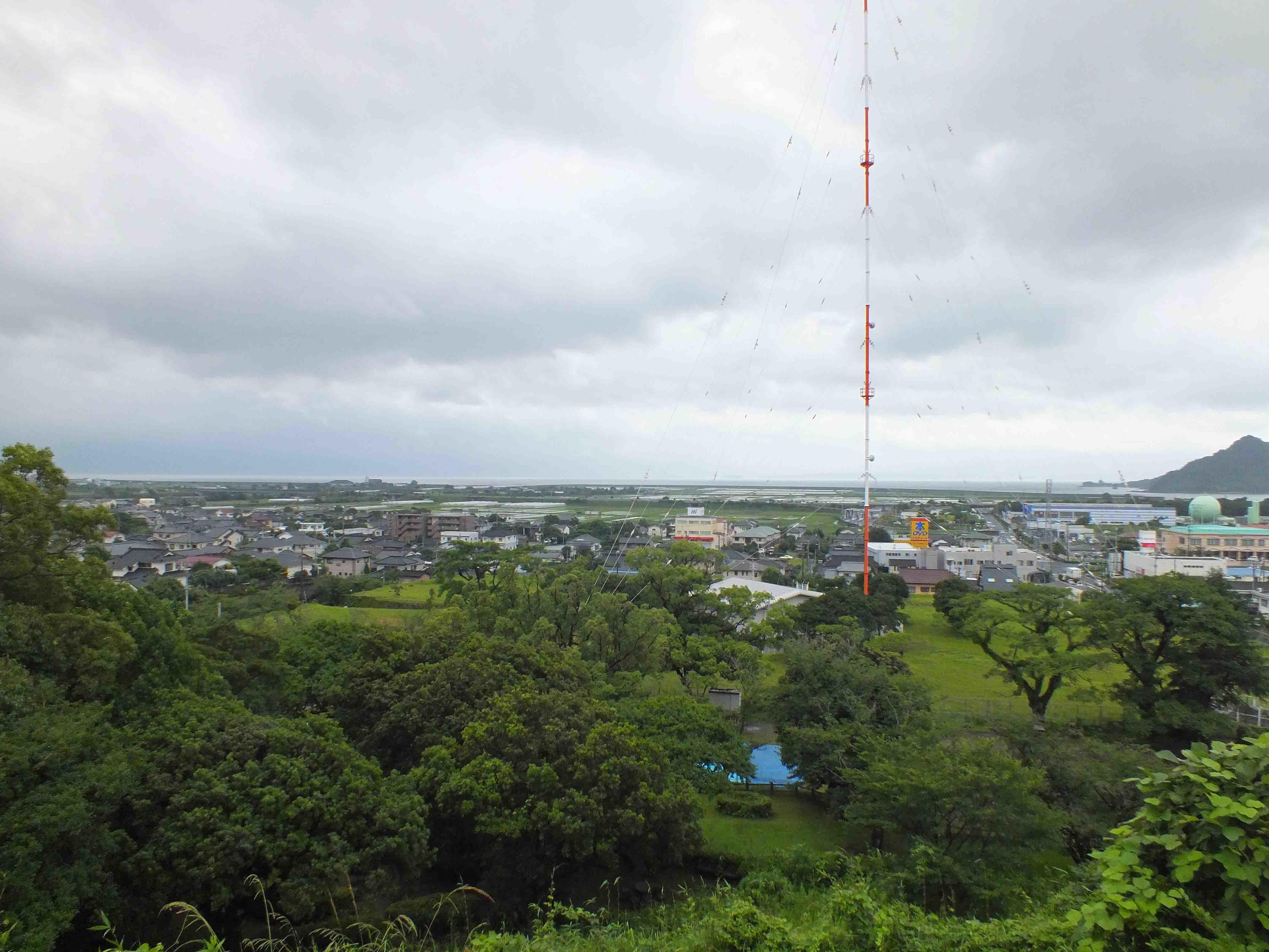 富隈城 高台より望む
