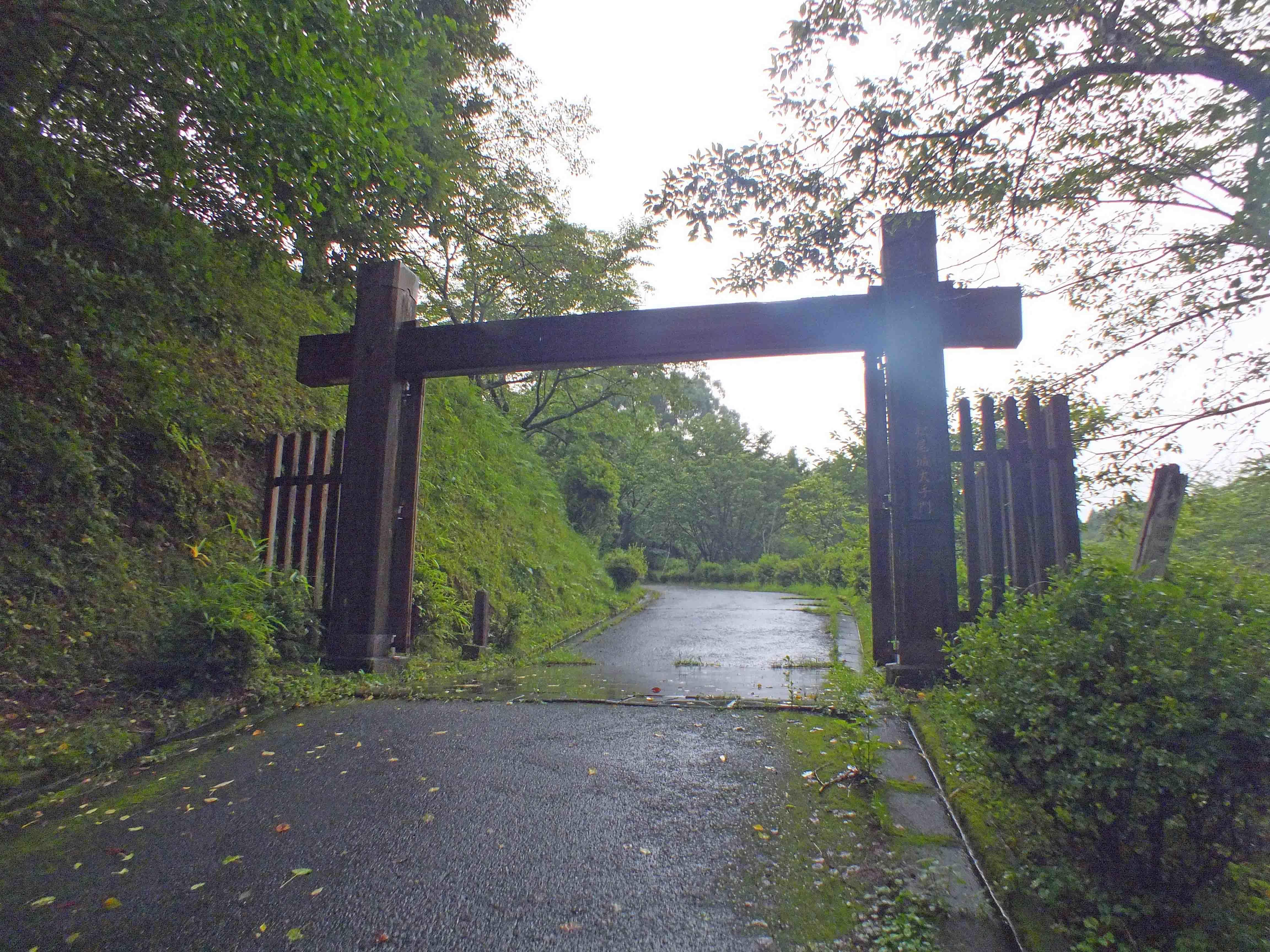 松尾城 大手門??