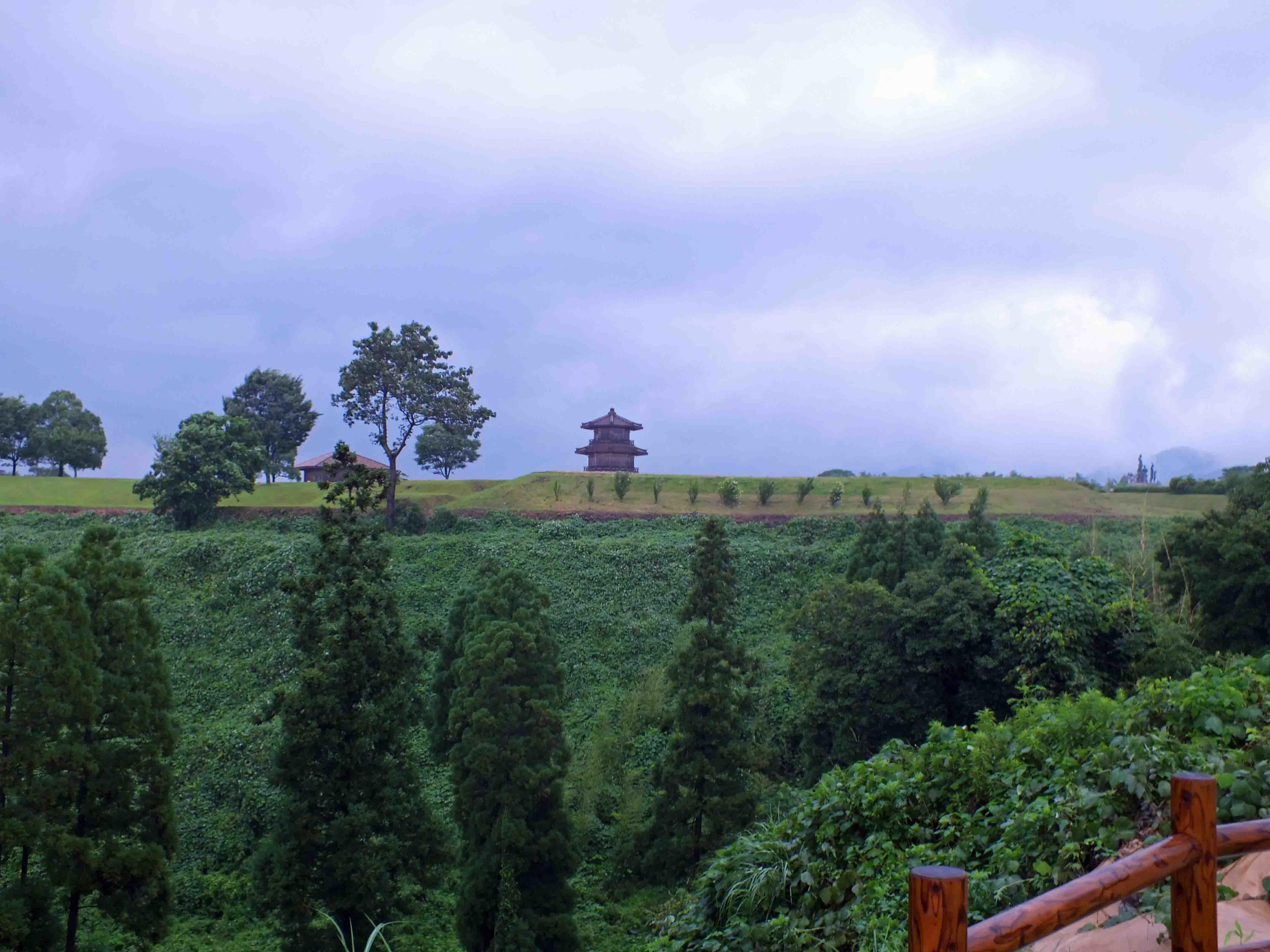 菊地城 遠景