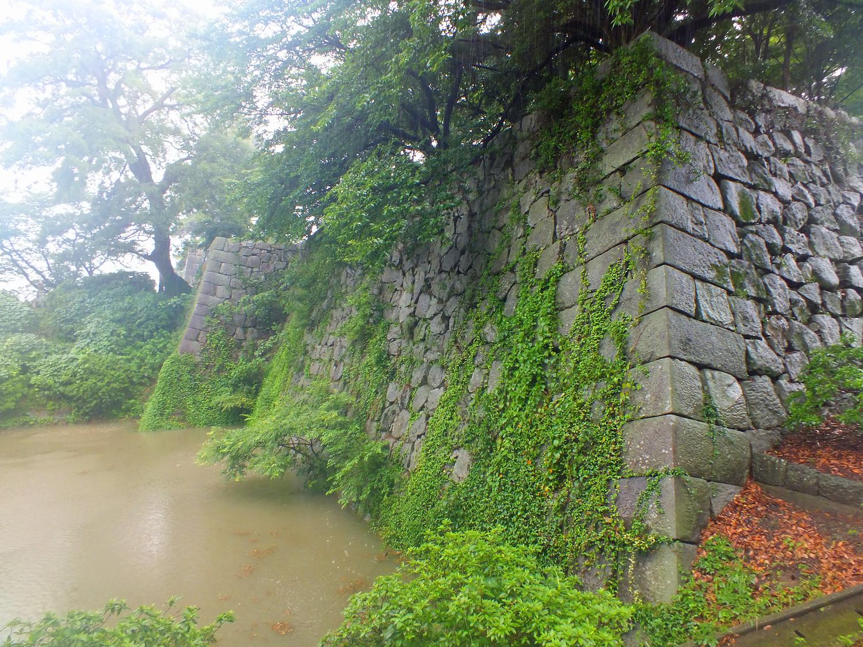 久留米 石垣と堀