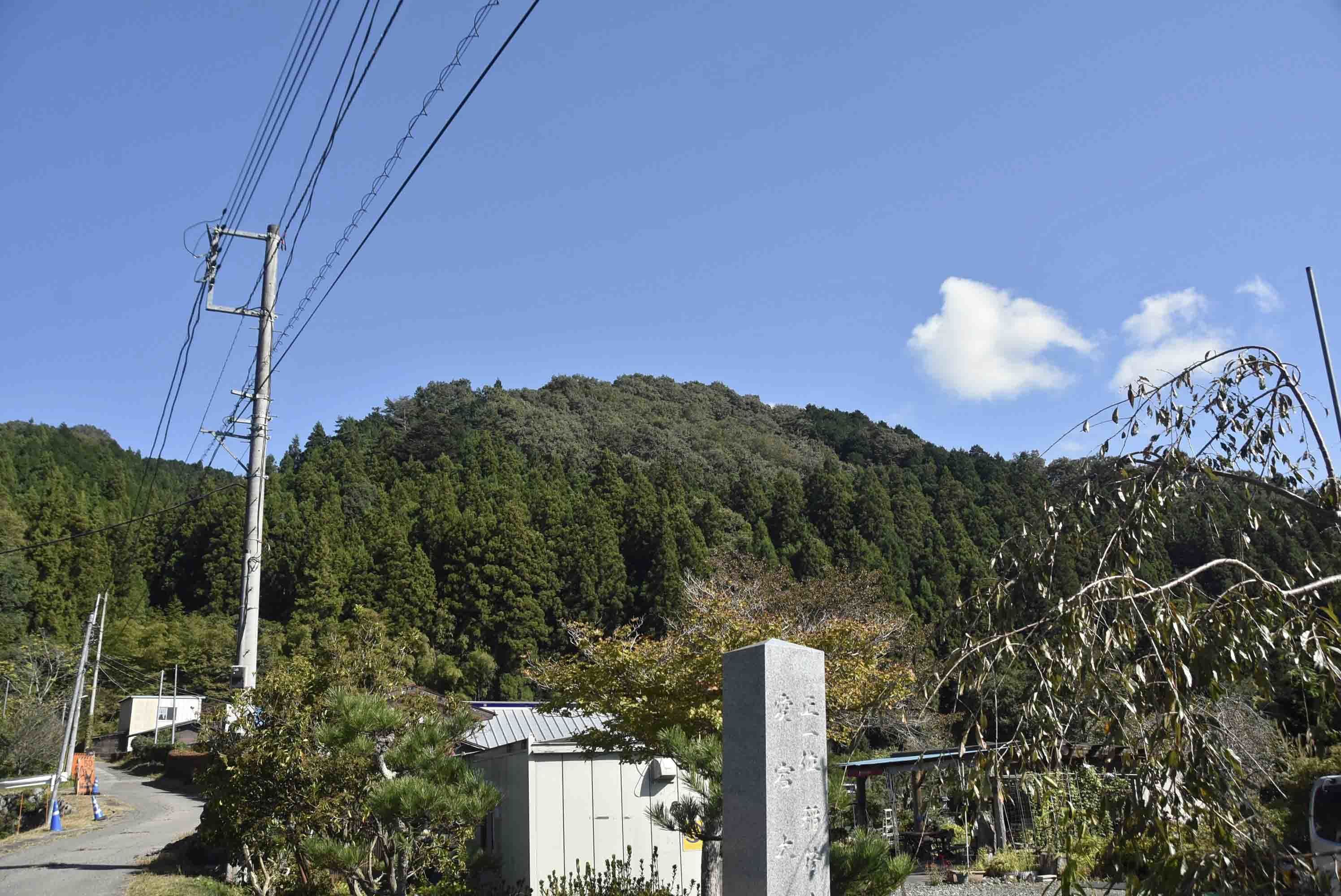 愛宕山城 遠景