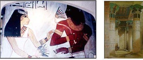 エジプトの宮殿内の蓮のレリーフ.2