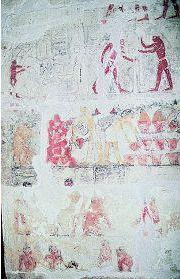 写真:ニアンククヌムとクヌムヘテプの墓の壁画